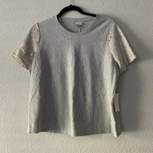 A New Day NWT Crew Neck Half Sleeve Sequin Top